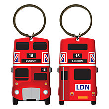 Buy Bus Print Keyring, Red Online at johnlewis.com