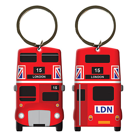 Buy Bus Print Key Ring, Red Online at johnlewis.com