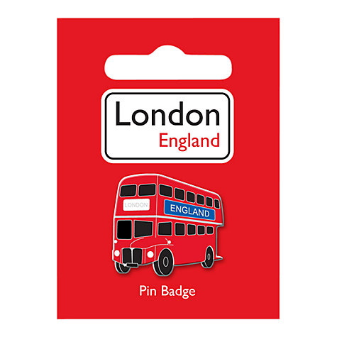 Buy Bus Pin Badge, Red Online at johnlewis.com