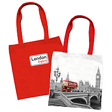 Buy Bus Print Bag, Red Online at johnlewis.com