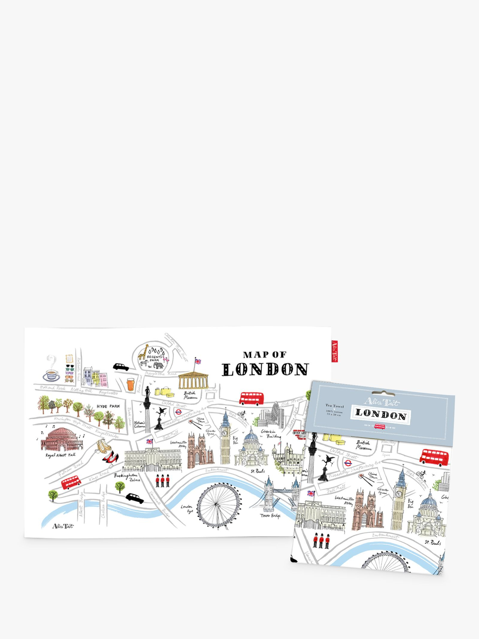 Alice Tait Alice Tait Map of London Tea Towel