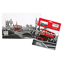 Buy Bus Print Tea Towel, Multi Online at johnlewis.com