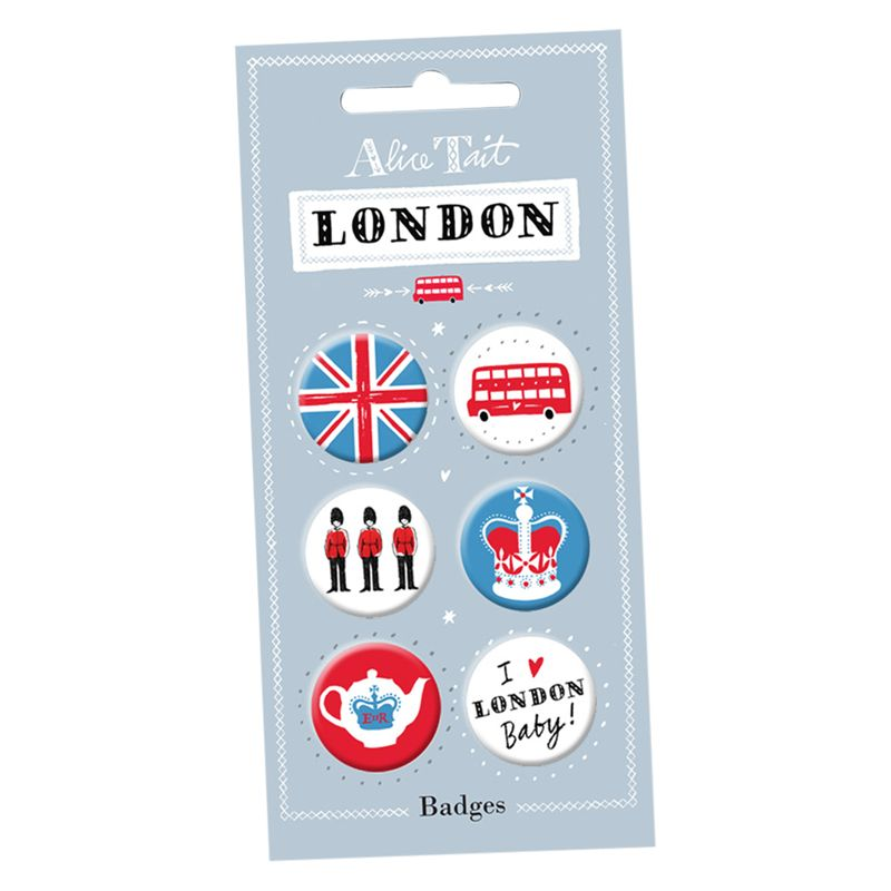 Alice Tait Alice Tait London Badges, Set of 6