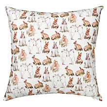 Buy Stefanie Pisani Rabbit Print Cushion Online at johnlewis.com