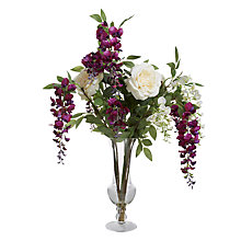 Buy Peony Wisteria And Roses, Multi Online at johnlewis.com