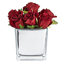 Buy John Lewis Rose In Mirror Cube, Red, Large Online at johnlewis.com