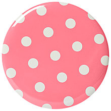 Buy Cath Kidston Spotted Pocket Mirror, Pink Online at johnlewis.com