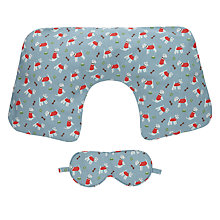 Buy Cath Kidston Stanley Print Travel Pillow Set, Blue Online at johnlewis.com