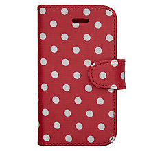 Buy Cath Kidston Spotted Print iPhone 5 Case, Cranberry Online at johnlewis.com