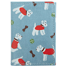 Buy Cath Kidston Stanley Dog Print Ticket Holder, Blue Online at johnlewis.com