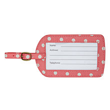Buy Cath Kidston Spotted Print Luggage Tag, Pink Online at johnlewis.com