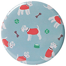 Buy Cath Kidston Stanley Dog Print Pocket Mirror, Blue Online at johnlewis.com