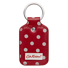 Buy Cath Kidston Spotted Print Key Fob, Red Online at johnlewis.com