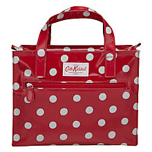 Buy Cath Kidston Spotted Print Box Bag, Cranberry Online at johnlewis.com