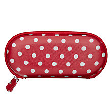 Buy Cath Kidston Spotted Print Glasses Case Spot, Cranberry Online at johnlewis.com