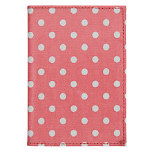 Buy Cath Kidston Spotted Print Passport Holder, Pink Online at johnlewis.com