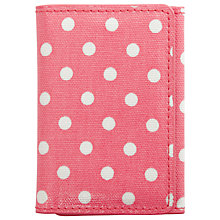 Buy Cath Kidston Spotted Print Ticket Holder, Pink Online at johnlewis.com