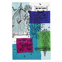 Buy John Lewis Loewy Birdcage Print Tea Towel, Multi Online at johnlewis.com