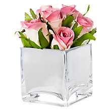 Buy Peony Roses Mirror Cube, Pink, Small Online at johnlewis.com