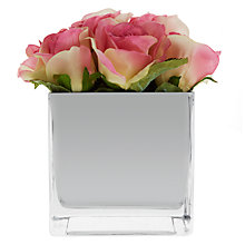 Buy John Lewis Roses In Mirror Cube, Pink, Large Online at johnlewis.com