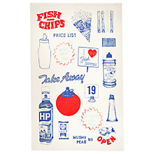 Buy Gillian Kyle Fish and Chips Tea Towel Online at johnlewis.com