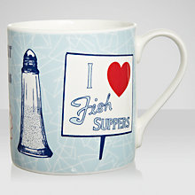 Buy Gillian Kyle Fish and Chips Mug Online at johnlewis.com