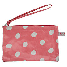 Buy Cath Kidston Spotted Print Zip Purse, Pink Online at johnlewis.com