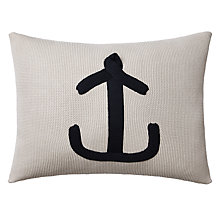 Buy John Lewis Nautical Anchor Cushion, Blue Online at johnlewis.com