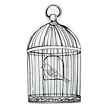 Buy John Lewis Decorative Flat Birdcage, Cream Online at johnlewis.com