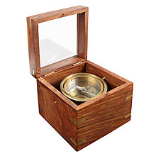 Buy John Lewis Compass In Box, Gold Online at johnlewis.com