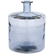 Buy John Lewis Croft Collection Recycled Glass Vase, Blue Online at johnlewis.com