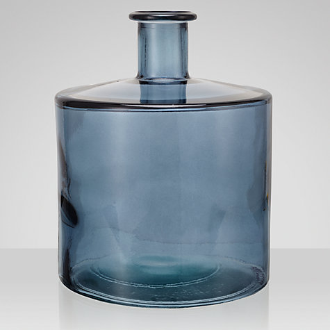 Buy John Lewis Croft Collection Recycled Glass Vase, Blue, Height 26cm Online at johnlewis.com
