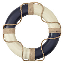 Buy John Lewis Decorative Life Ring, Blue Online at johnlewis.com
