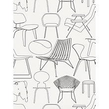 "Buy Mini Moderns ""Sitting Comfortably?"" Wallpaper, Snow Online at johnlewis.com"
