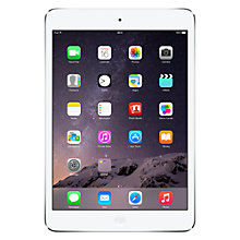 "Buy Apple iPad mini with Retina display, Apple A7, iOS 7, 7.9"", Wi-Fi & Cellular, 32GB, Silver Online at johnlewis.com"