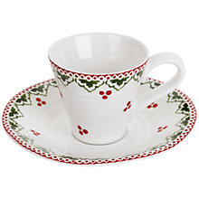 Buy Sophie Conran for Portmeirion Christmas Sugar Fairy Espresso Cup & Saucer Online at johnlewis.com