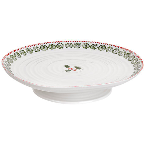 Buy Sophie Conran for Portmeirion Christmas Footed Cake Plate Online at johnlewis.com