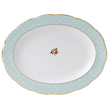 Buy Royal Albert Polka Rose Oval Platter Online at johnlewis.com