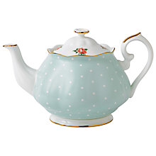 Buy Royal Albert Polka Rose Teapot Online at johnlewis.com