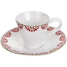 Buy Sophie Conran for Portmeirion Christmas Star Espresso Cup & Saucer Online at johnlewis.com