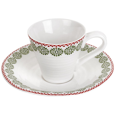 Buy Sophie Conran for Portmeirion Christmas Snowflake Espresso Cup & Saucer Online at johnlewis.com