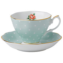 Buy Royal Albert Polka Rose Cup & Saucer Online at johnlewis.com