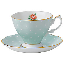 Buy Royal Albert Polka Rose Espresso Cup & Saucer Online at johnlewis.com