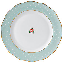 Buy Royal Albert Green Polka Rose Dinner Plate Online at johnlewis.com