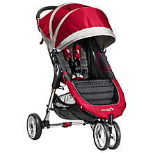 Buy Baby Jogger City Mini 3 Wheel Pushchair, Crimson Online at johnlewis.com