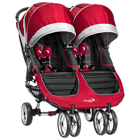Buy Baby Jogger City Mini Twin Pushchair, Crimson/Grey Online at johnlewis.com