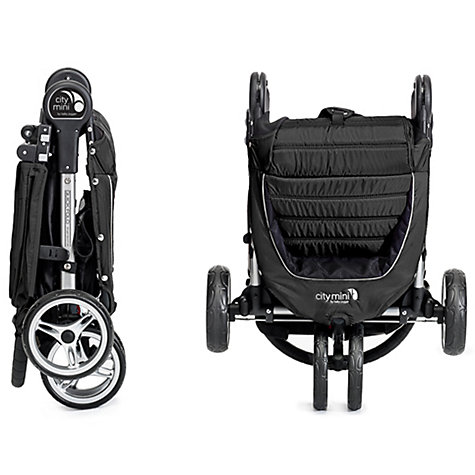 Buy Baby Jogger City Mini 3 Wheel Pushchair, Black/Grey Online at johnlewis.com