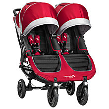 Buy Baby Jogger 2014 City Mini GT Double Pushchair, Crimson Online at johnlewis.com