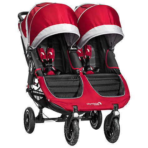 Buy Baby Jogger City Mini GT Double Pushchair, Crimson Online at johnlewis.com