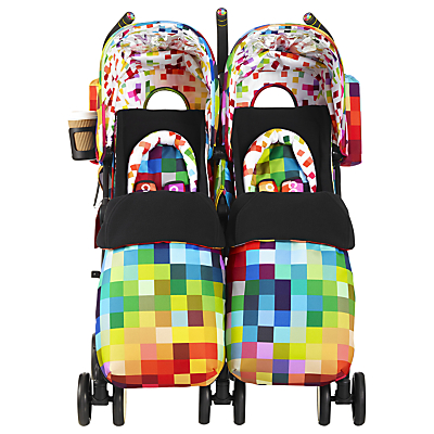 Cosatto Supa Dupa Twin Pushchair, Pixelate